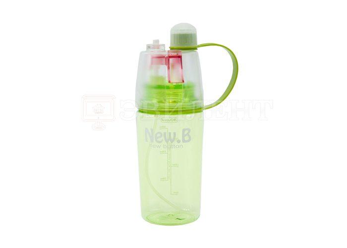 Спортивная бутылка для воды с распылителем NEW BUTTON SPRAYER BOTTLE 400мл