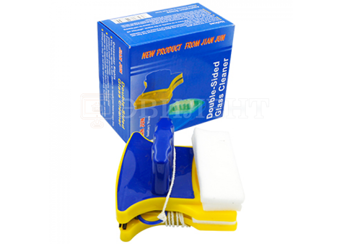 Магнитная щетка для мытья окон DOUBLE-SIDED GLASS 105 мм