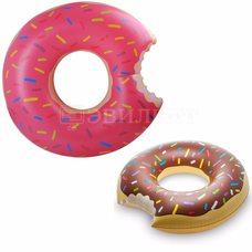 Надувной круг пончик 90см